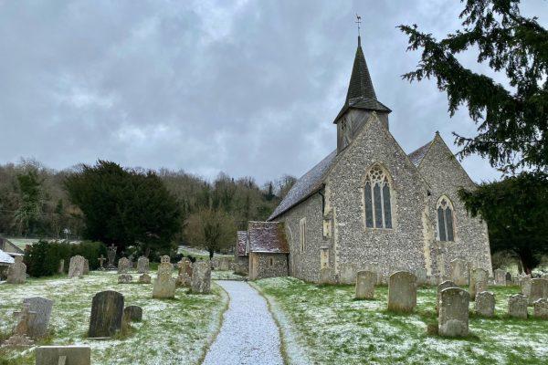 Compton church 2021 snow