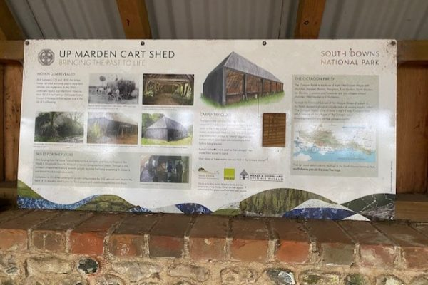 Up Marden Cart shed infopanel